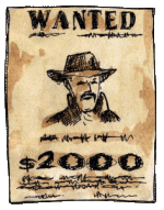 Wanted poster from Way out West